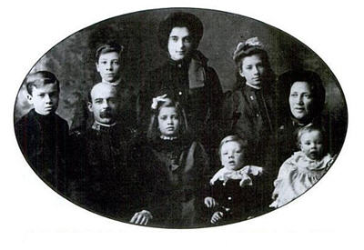 Henry and Mary Stillwell and seven of their eight children